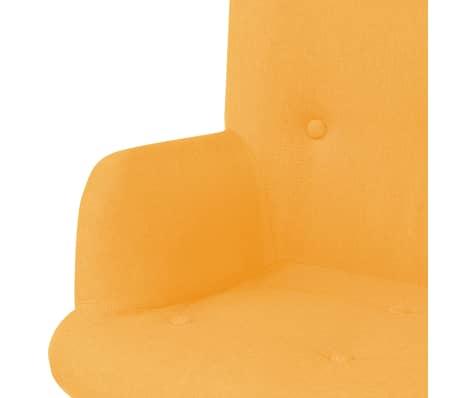 vidaXL Πολυθρόνα Κίτρινη Υφασμάτινη με Υποπόδιο[4/10]