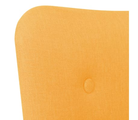 vidaXL Πολυθρόνα Κίτρινη Υφασμάτινη με Υποπόδιο[5/10]
