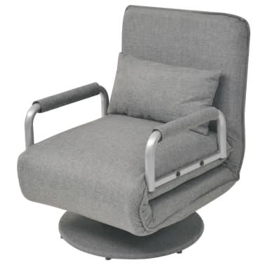 vidaXL Supamoji kėdė ir sofa-lova, šviesiai pilka, 60x75x80cm[1/13]