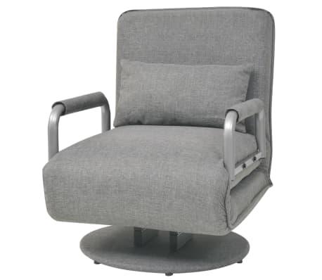 vidaXL Supamoji kėdė ir sofa-lova, šviesiai pilka, 60x75x80cm[2/13]