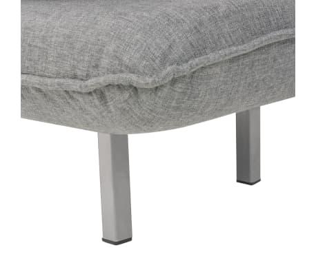 vidaXL Supamoji kėdė ir sofa-lova, šviesiai pilka, 60x75x80cm[11/13]