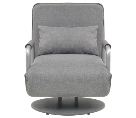 vidaXL Supamoji kėdė ir sofa-lova, šviesiai pilka, 60x75x80cm[3/13]
