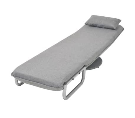 vidaXL Supamoji kėdė ir sofa-lova, šviesiai pilka, 60x75x80cm[8/13]