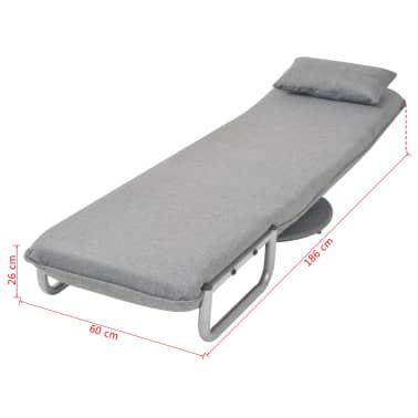 vidaXL Supamoji kėdė ir sofa-lova, šviesiai pilka, 60x75x80cm[13/13]