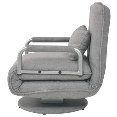 vidaXL Supamoji kėdė ir sofa-lova, šviesiai pilka, 60x75x80cm[4/13]