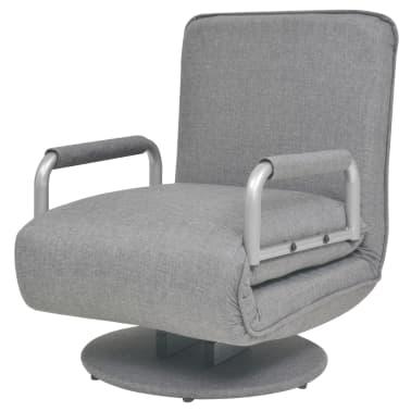 vidaXL Supamoji kėdė ir sofa-lova, šviesiai pilka, 60x75x80cm[5/13]