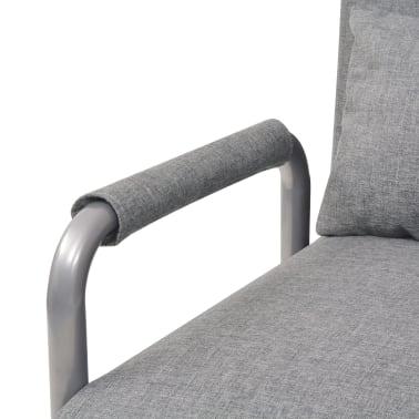 vidaXL Supamoji kėdė ir sofa-lova, šviesiai pilka, 60x75x80cm[7/13]