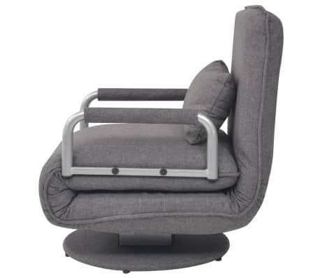 Vidaxl poltrona girevole e divano letto grigio scuro 60x75x80 cm - Divano letto singolo girevole ...