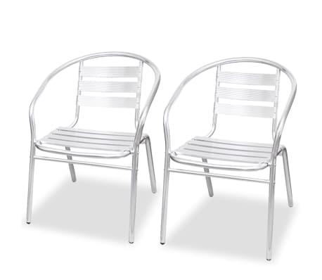 acheter vidaxl chaise empilable 2 pcs aluminium pas cher. Black Bedroom Furniture Sets. Home Design Ideas