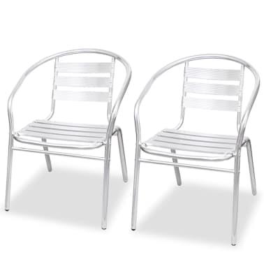 vidaXL Stapelbara stolar 2 st aluminium[1/7]