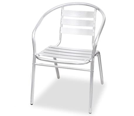 vidaXL Stapelbara stolar 2 st aluminium[3/7]