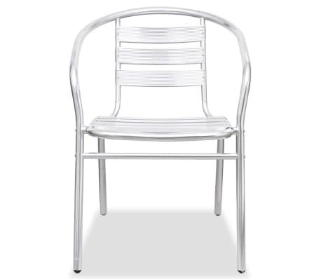 vidaXL Stapelbara stolar 2 st aluminium[4/7]
