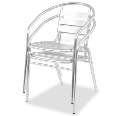 vidaXL Stapelbara stolar 2 st aluminium[2/7]
