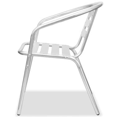 vidaXL Stapelbara stolar 2 st aluminium[5/7]