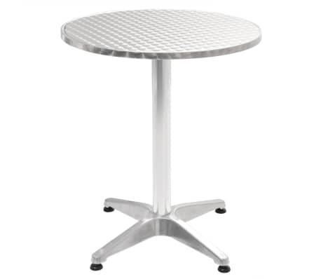 acheter vidaxl table de jardin ronde aluminium 60 x 70 cm pas cher. Black Bedroom Furniture Sets. Home Design Ideas
