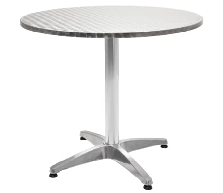 vidaxl gartentisch aluminium rund 80 x 70 cm zum schn ppchenpreis. Black Bedroom Furniture Sets. Home Design Ideas