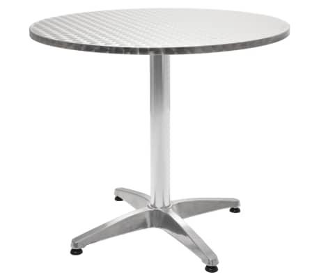 acheter vidaxl table de jardin ronde aluminium 80 x 70 cm pas cher. Black Bedroom Furniture Sets. Home Design Ideas