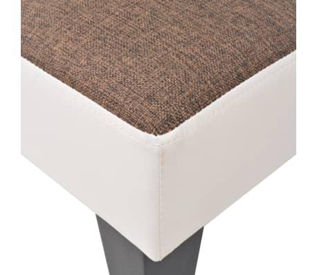 vidaXL reguliuojama sofa-lova, PVC audinys, ruda ir balta[6/9]