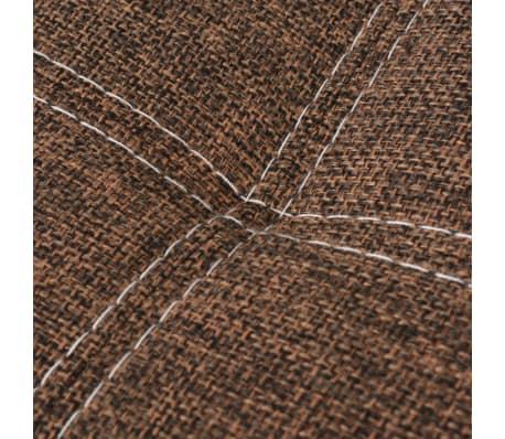 vidaXL reguliuojama sofa-lova, PVC audinys, ruda ir balta[7/9]