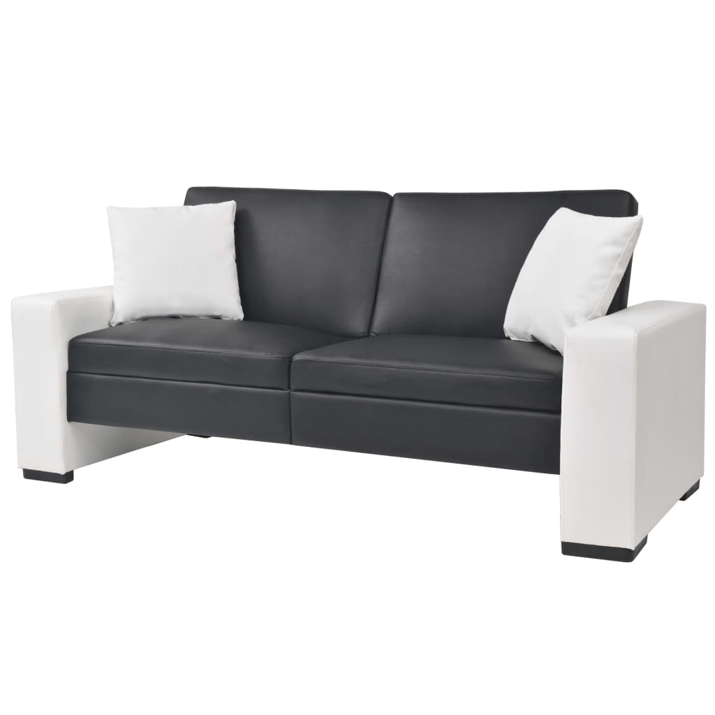 Canapé convertible Noir Contemporain Confort