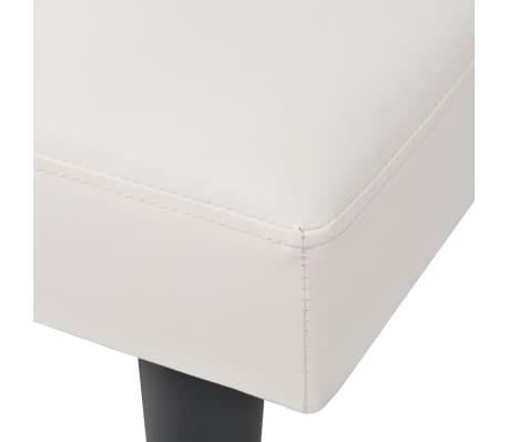 Vidaxl sof cama modular ajust vel pvc branco Sofa cama modular