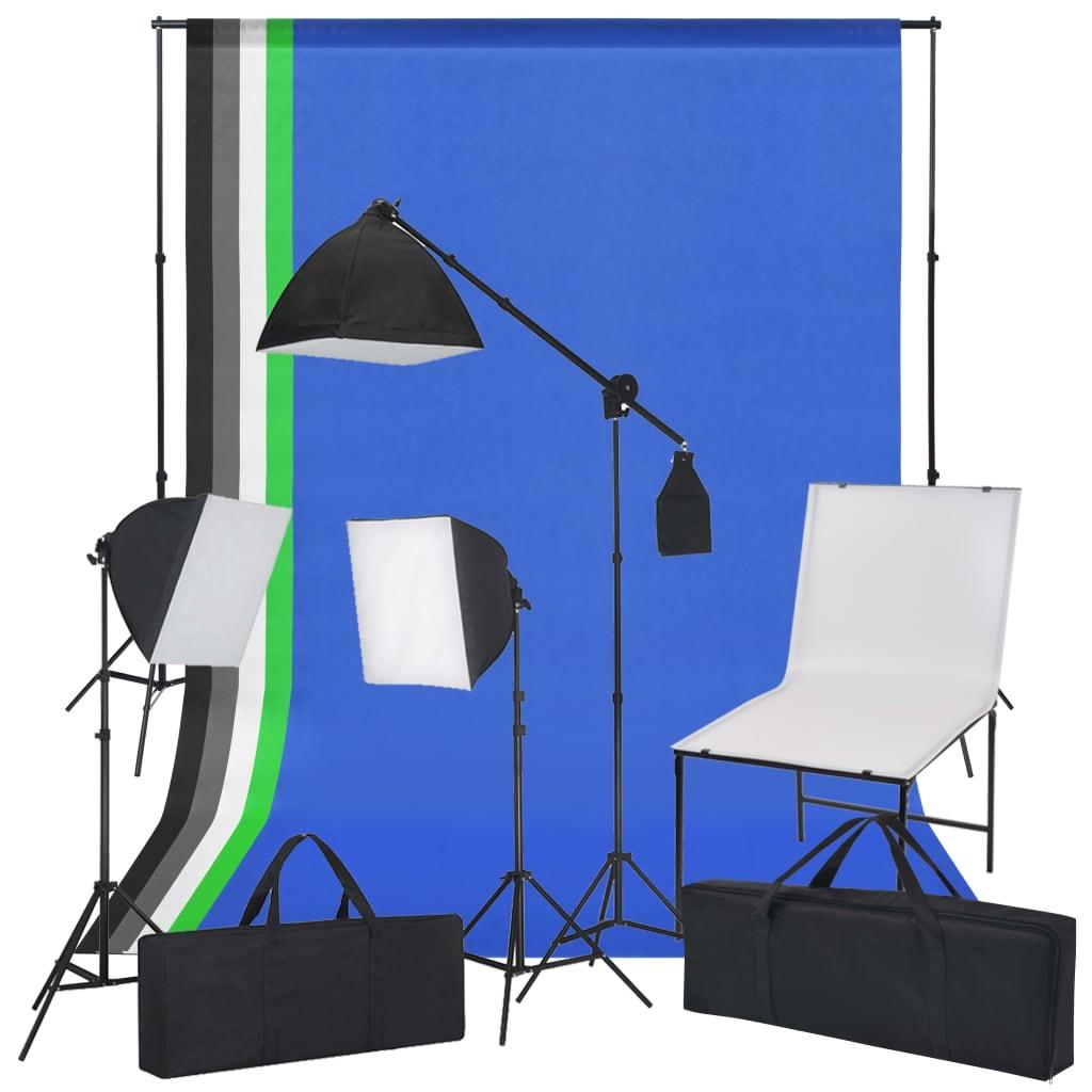 Fotostuudiokomplekt pildistamislaua, valgustuse, ..