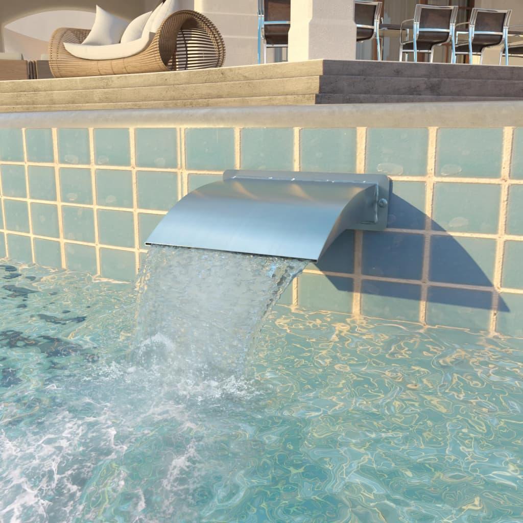 Bazénová fontána nerezová ocel 30 x 9 x 26 cm stříbrná