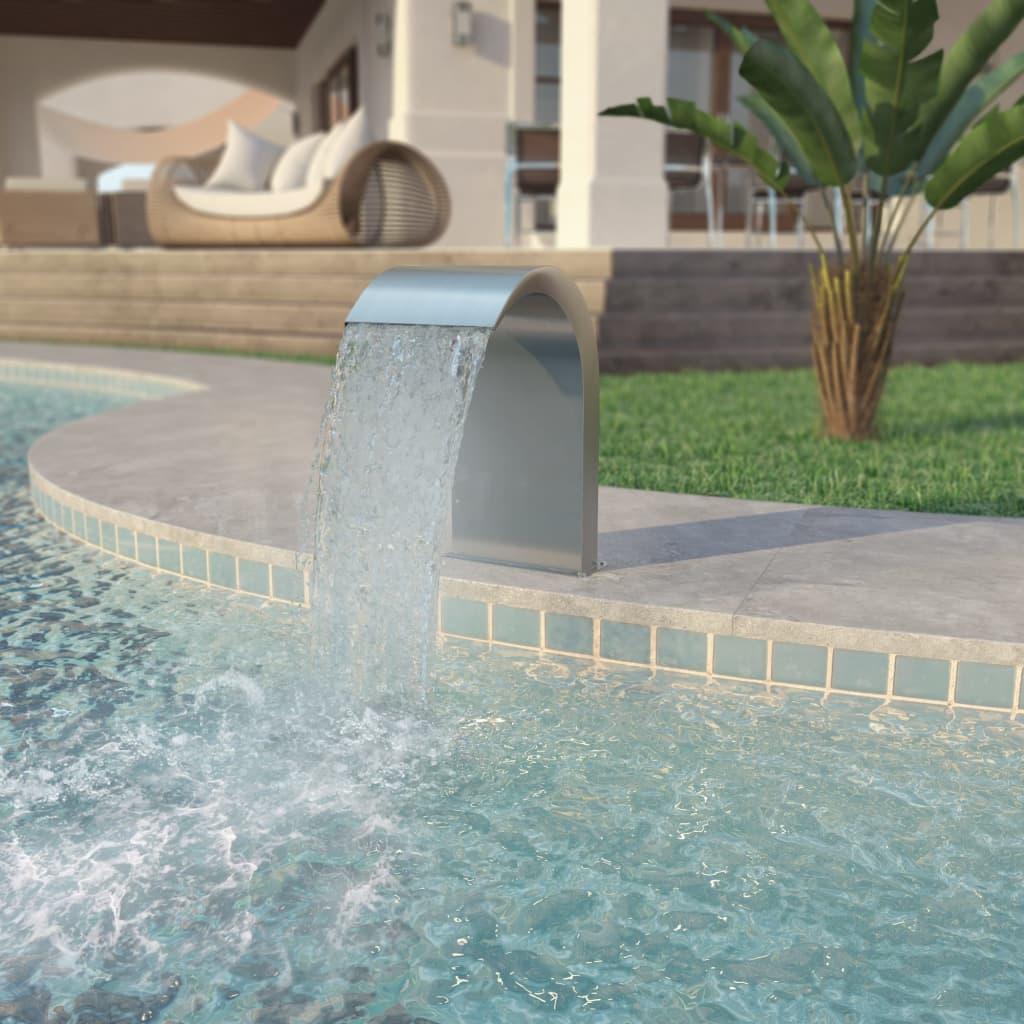 Bazénová fontána, nerezová ocel, 45x30x65 cm, stříbrná