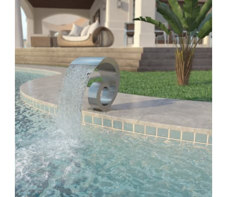 "vidaXL Pool Fountain Stainless Steel 19.7""x11.8""x20.9"" Silver[1/7]"