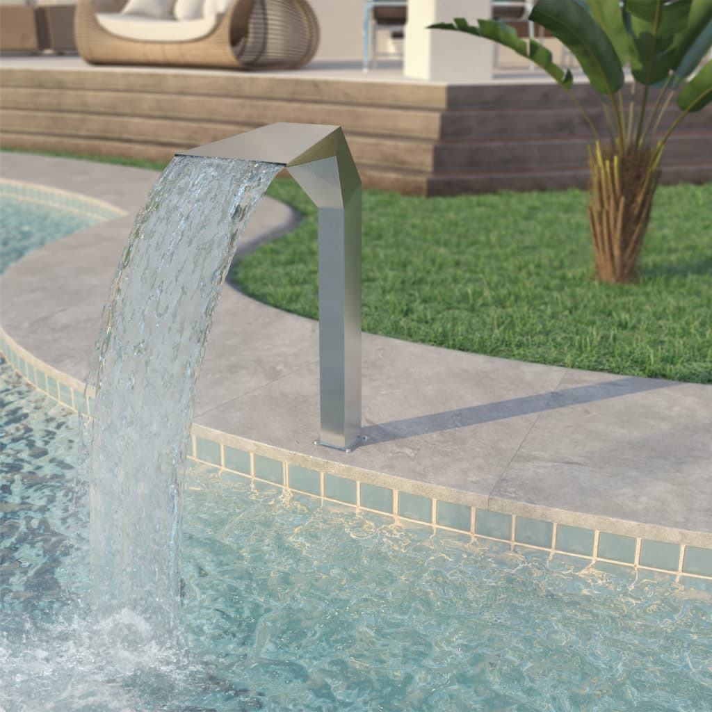 Swimming Pool Waterfall Fountain Stainless Steel Water Feature ...