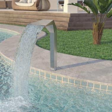"vidaXL Pool Fountain Stainless Steel 19.7""x11.8""x35.4"" Silver[1/7]"