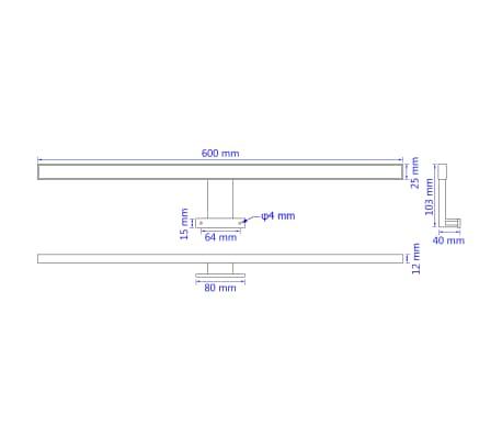 vidaXL Lámpara de espejo 8 W luz blanca cálida[7/8]
