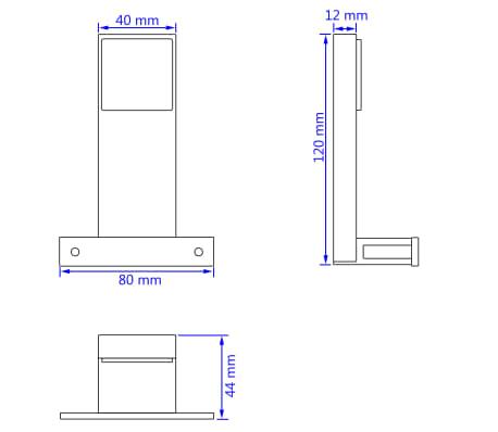 vidaXL Iluminação descendente para espelho 2 pcs 2 W branco frio[8/8]