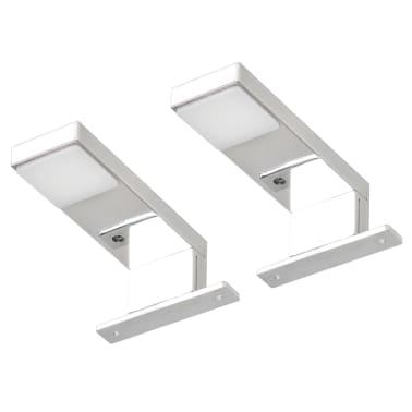 vidaXL Iluminação descendente para espelho 2 pcs 2 W branco frio[3/8]