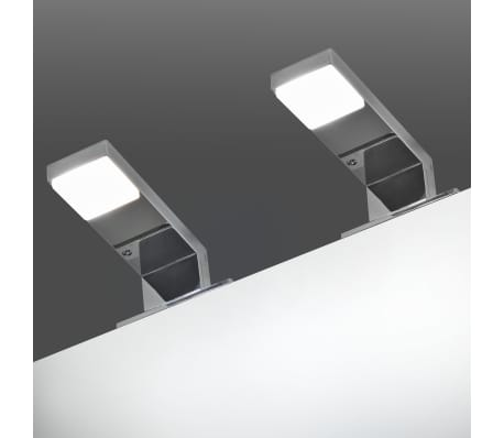 vidaXL Iluminação descendente para espelho 2 pcs 2 W branco frio[1/8]