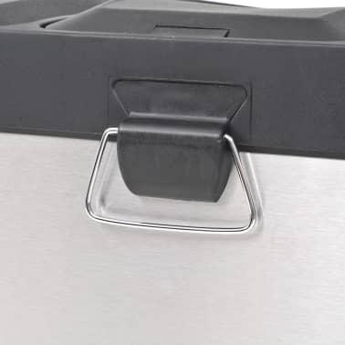 vidaXL affaldsbeholder til genbrug med pedal rustfrit stål 3 x 18 L[4/5]
