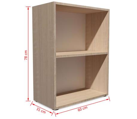 vidaXL Knygų lentyna, med. drožlių plokštė, 60x31x78 cm, ąžuolas[5/5]