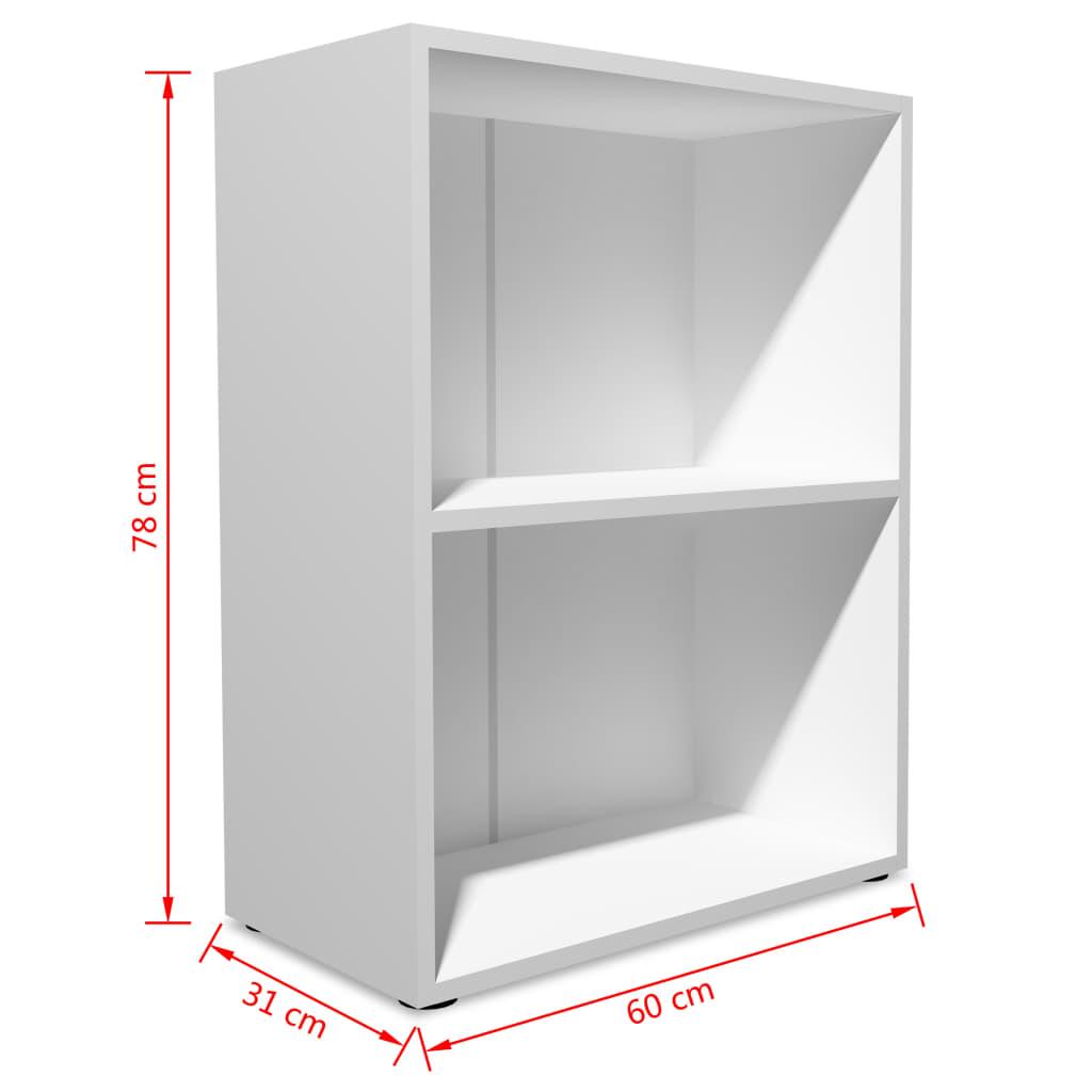 vidaXL Boekenkast 60x31x78 cm spaanplaat wit