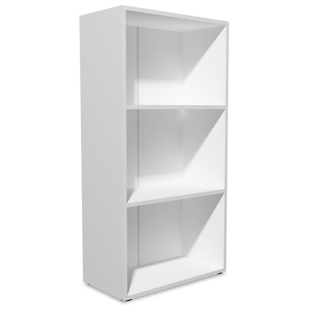 vidaXL Βιβλιοθήκη Λευκή 60 x 31 x 116,5 εκ. από Μοριοσανίδα