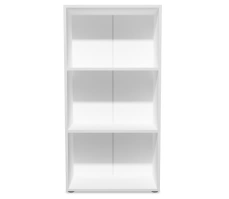 acheter vidaxl biblioth que agglom r 60 x 31 x 116 5 cm blanc pas cher. Black Bedroom Furniture Sets. Home Design Ideas