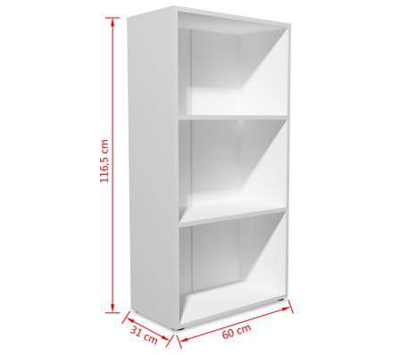 vidaxl b cherregal spanplatte 60 x 31 x 116 5 cm wei g nstig kaufen. Black Bedroom Furniture Sets. Home Design Ideas