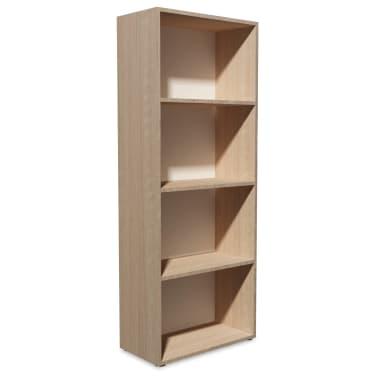 vidaXL Knygų lentyna, med. drožlių plokš., 60x31x155cm, ąžuolo mediena[2/5]