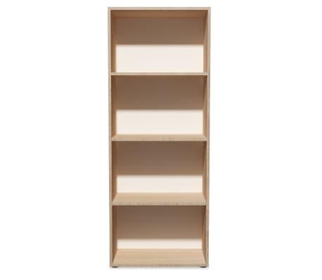vidaXL Knygų lentyna, med. drožlių plokš., 60x31x155cm, ąžuolo mediena[3/5]