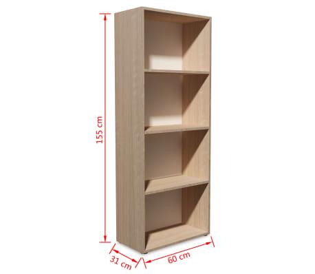 vidaXL Knygų lentyna, med. drožlių plokš., 60x31x155cm, ąžuolo mediena[5/5]