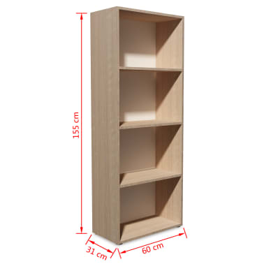 acheter vidaxl biblioth que agglom r 60 x 31 x 78 cm bois. Black Bedroom Furniture Sets. Home Design Ideas