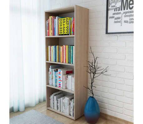 vidaXL Knygų lentyna, med. drožlių plokš., 60x31x155cm, ąžuolo mediena[1/5]