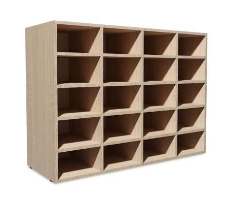 vidaXL Shoe Rack Chipboard 92x30x67.5 cm Oak