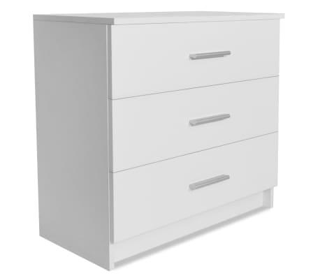 vidaXL Móvel de gavetas em aglomerado 71x35x69 cm branco