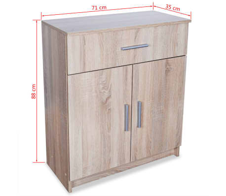 vidaXL Buffet Aggloméré 71 x 35 x 88 cm Chêne[6/6]