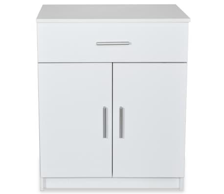 vidaXL Kommode Spanplatte 71 x 35 x 88 cm Weiß[3/6]